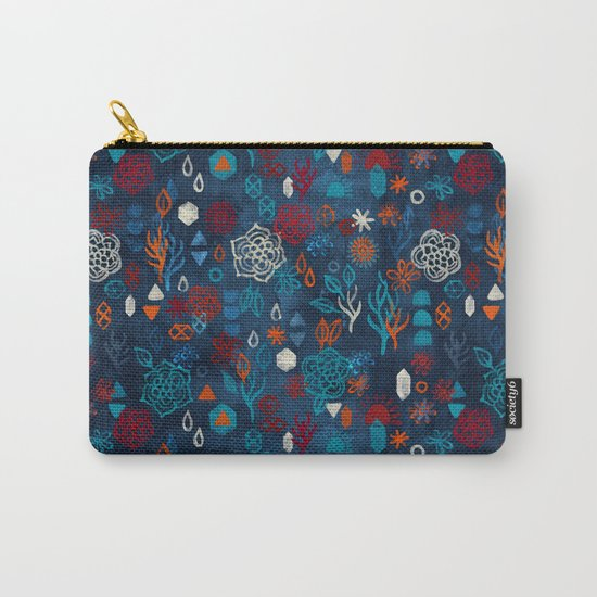 Earth, Water, Fire, Air - a watercolor pattern Carry-All Pouch