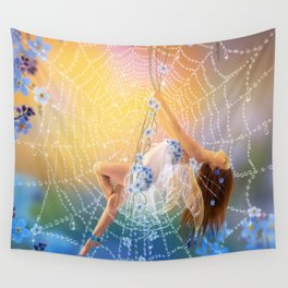 Little Blue  Wall Tapestry