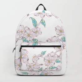 Floral Pattern Flowers Aesthetic Ornament Backpack