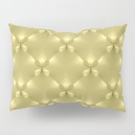 Bright Gold Studded Quilt Repeat Pattern Pillow Sham