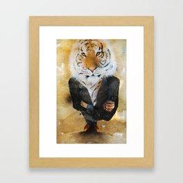 Animal instict Framed Art Print