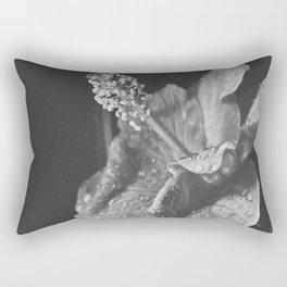 Tear Drops on Ibiscus Rectangular Pillow