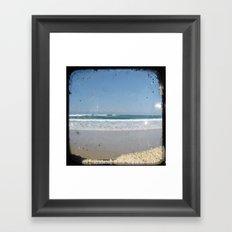 The Beach - Through The Viewfinder (TTV) Framed Art Print