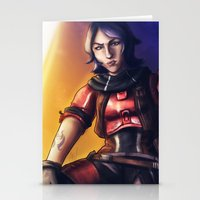 gladiator Stationery Cards featuring Borderlands - Athena The Gladiator by Chooone
