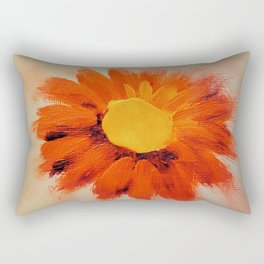 Vibrant Orange Sunflower Rectangular Pillow