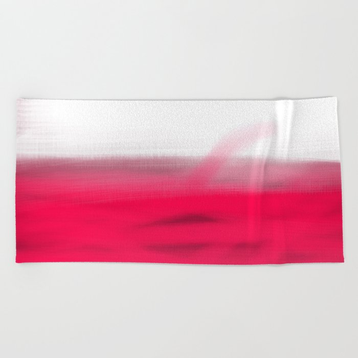 Pink Fields Abstract Painting - Dreaming in Nature Beach Towel