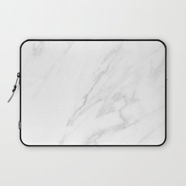 Classic White Marble Laptop Sleeve