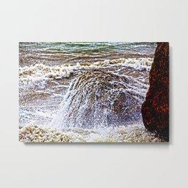 Normandy Sea Metal Print