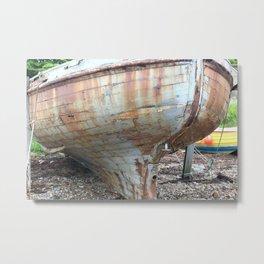 rusty boat Metal Print