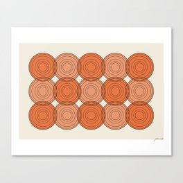Red & Orange Circles Canvas Print
