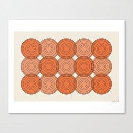 Red & Orange Circles Canvas Print