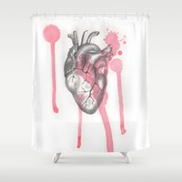 battlefield Shower Curtains featuring My Heart is like a Battlefield by ArtLm