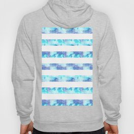 Blue & Purple Watercolor Stripes Hoody