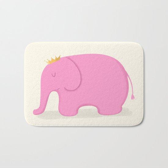 Queen Pink Elephant Bath Mat