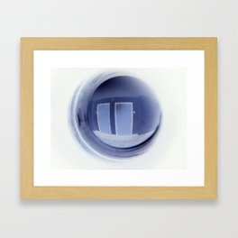 Keyboard in a Peep Hole Framed Art Print