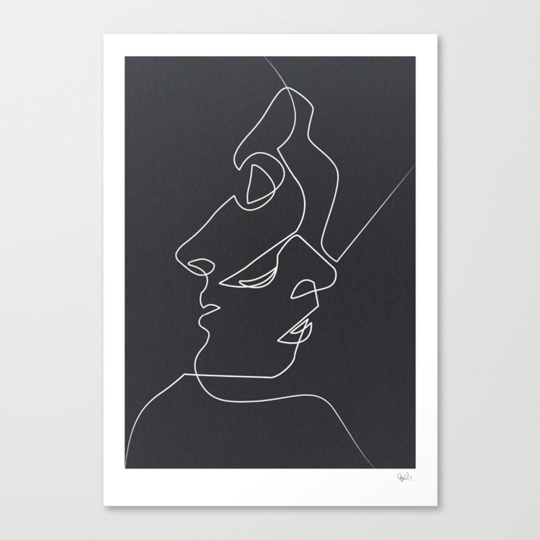 Drawing Lines Using Canvas : Black white canvas prints society
