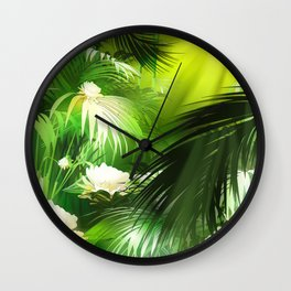 Tropical Bloom Wall Clock