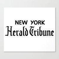 godard Canvas Prints featuring New York Herald Tribune! Breathless / a bout de souffle by AdrienneD