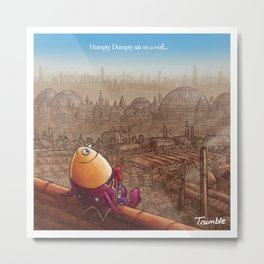 """Humpty Dumpty"" Page Sample (Mother Goose Retold-Trumble Book) Metal Print"