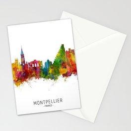 Montpellier France Skyline Stationery Cards