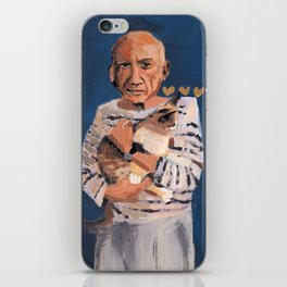 Picasso and cat iPhone Skin