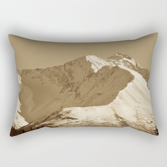 Majestic Mountain - Sepia Rectangular Pillow