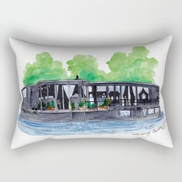 Water Living in Amsterdam by Charlotte Vallance Rectangular Pillow