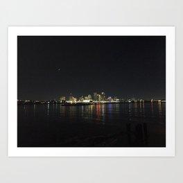 NEW ORLEANS at NIGHT Art Print