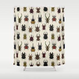 Large Beetles Shower Curtain