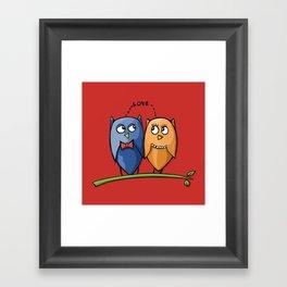 Owl Love red Framed Art Print
