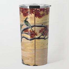 Japanese Fall Leaves Travel Mug