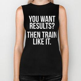 You Want Results? Then Train Like It Motivation T-Shirt Biker Tank
