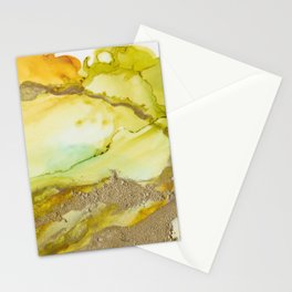 Gold Abstract 3 Stationery Cards