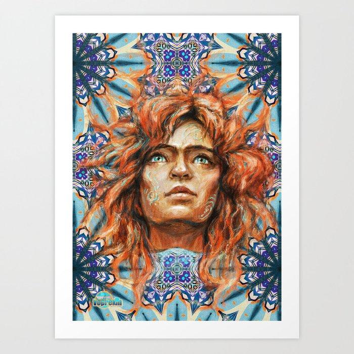 Intelligence, freedom and individuality Art Print
