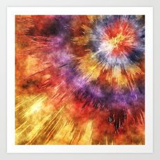 Colorful Tie Dye Rings Art Print