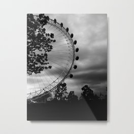 London Eye: Through The Trees Metal Print