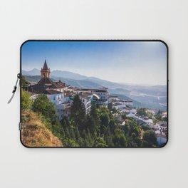 Stunning mountain village of Zahara de la Sierra in Spain Laptop Sleeve