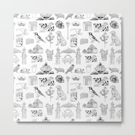 Maryland Pattern Metal Print