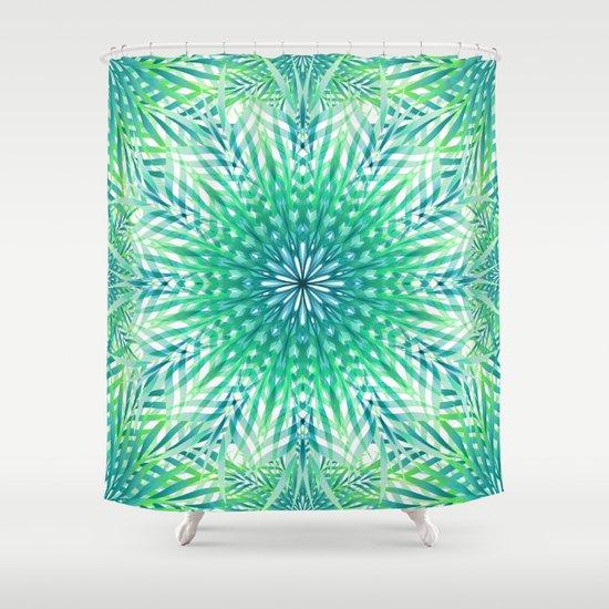 Palm Leaf Mandala Shower Curtain
