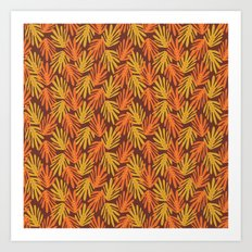 Scattered Leaves Art Print