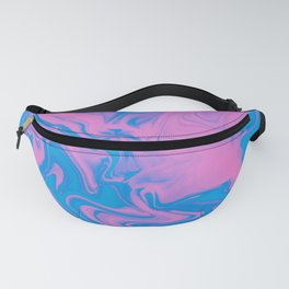 Pink & Blue Watercolor Fanny Pack