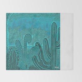 Desert landscape, night vision Throw Blanket