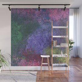 Abstract painting of sponged colorful spots Wall Mural