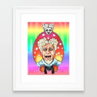 will ferrell Framed Art Prints featuring Mugatu by Megan Mars
