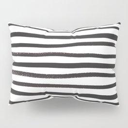 brushstroke stripes Pillow Sham