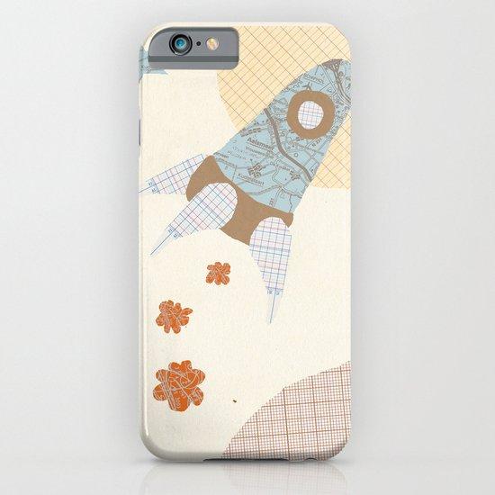 spaceship collage iPhone & iPod Case