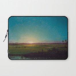 Twilight in the Florida Everglades by Martin Johnson Heade Laptop Sleeve