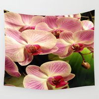 orchid Wall Tapestries featuring orchid by Bitifoto