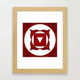 Go Deep Abstract Chakra Art  Framed Art Print