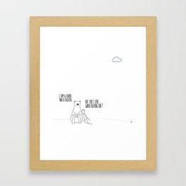 Lover Fighter Framed Art Print